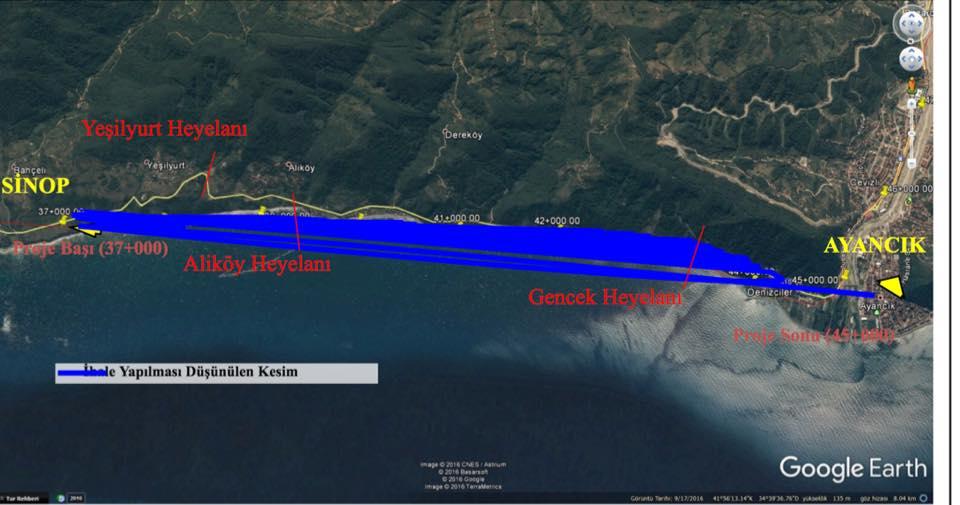 Ayancık Sinop Yolu Yapılıyor