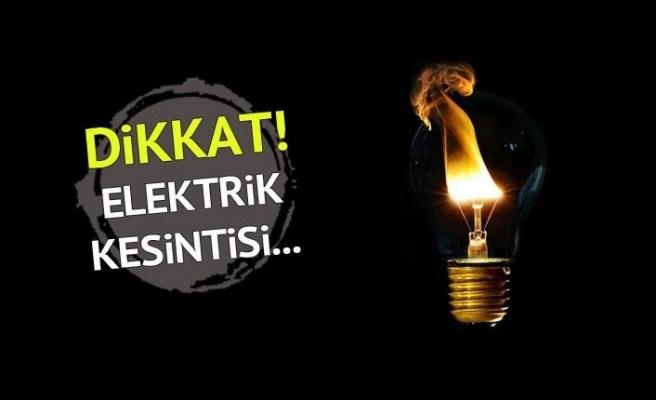 Dikkat Elektrik Kesintisi…