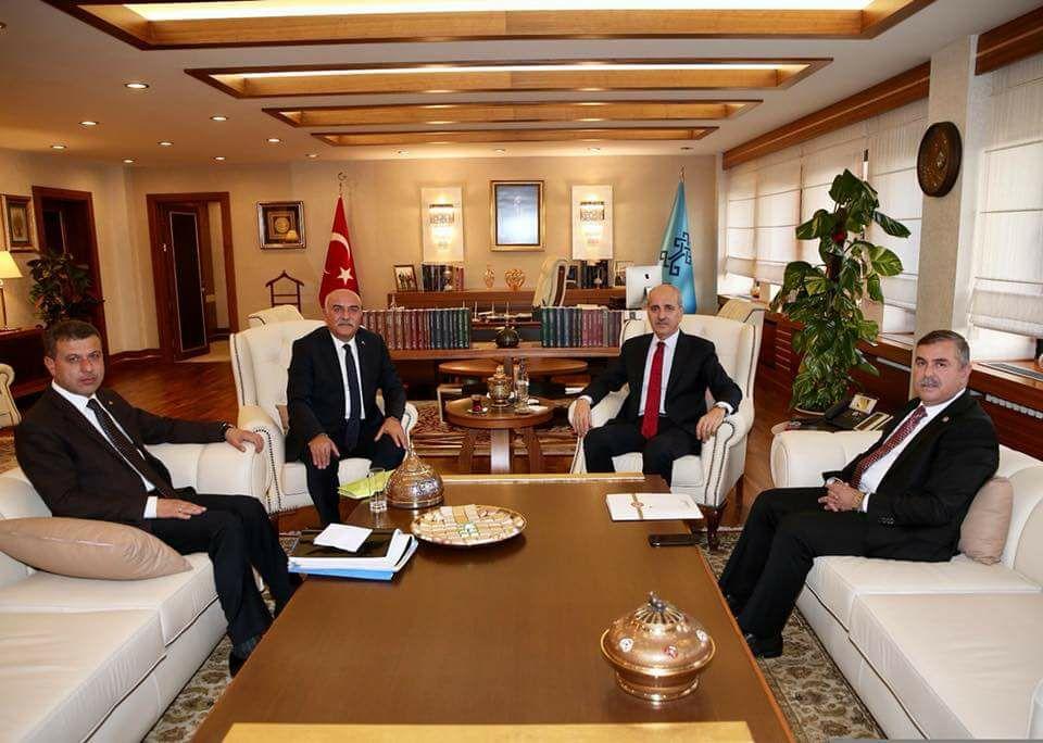 Bakan Kurtulmuş'tan Başkan Çakıcı'ya destek sözü