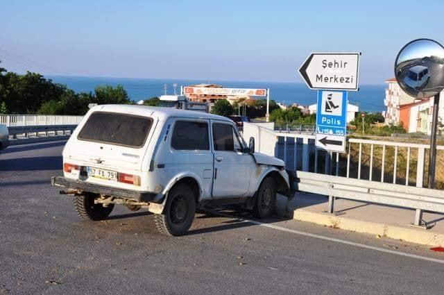 Gerze Belediye Başkanı Şensoy Trafik Kazası geçirdi