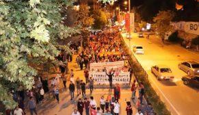 Boyabat 15 Temmuz Demokrasi Yürüyüşü Yapıldı
