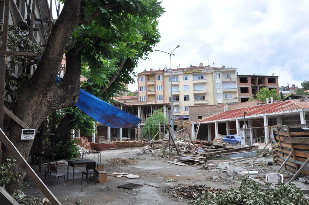 Kasaplar Çarşısı'nda restorasyon çalışmaları sürüyor