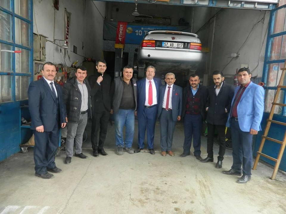 MHP Boyabat Belediye Başkan Adayı Şükrü Kaya' dan Ziyaret.