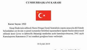 SİNOP'TA RÜZGAR SANTRALİ KURULUYOR