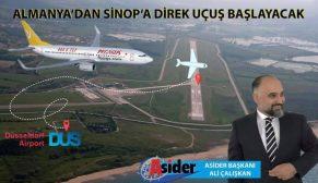 Almanya'dan Sinop'a direk uçuş başlayacak