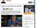 Boyabatlı Karikatürist Aşkın Ayrancıoğlu ile söyleşi Hürriyet'te