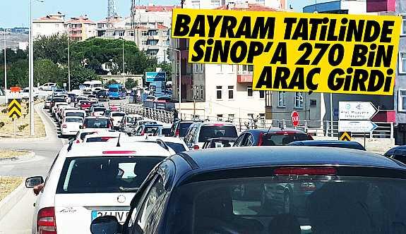 Bayramda Sinop'a 270 bin araç giriş yaptı