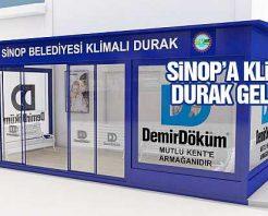 Sinop Belediyesinden Klimalı Durak Uygulaması
