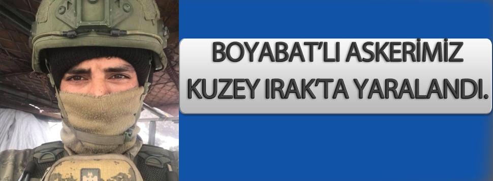 Kuzey Irak'ta Boyabat'lı Askerimiz Yaralandı