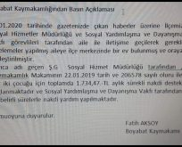 BOYABAT KAYMAKAMLIĞINDAN BASIN AÇIKLAMASI..