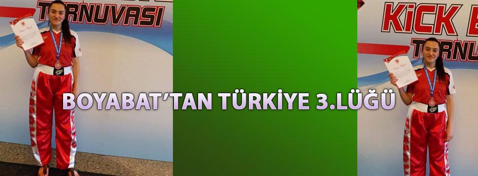BOYABAT' lı SPORCU TURKİYE 3.