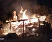 Paşaoğlu Köyünde Yangın