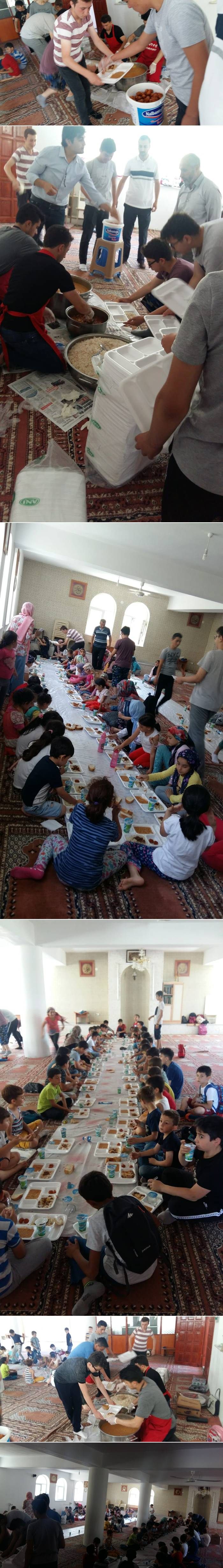 Yıldız Camisinde dün (04.07.2019 Perşembe) Yaz Kuran Kursu öğrencilerine yemek ikram edildi.