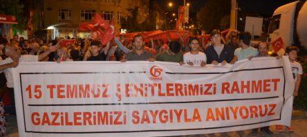 Boyabat'ta 15 Temmuz Demokrasi Yürüyüşü Yapıldı
