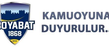 KAMUOYUNA DUYURULUR..!
