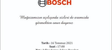 Boyabat Bosch Açılışına Davetlisiniz