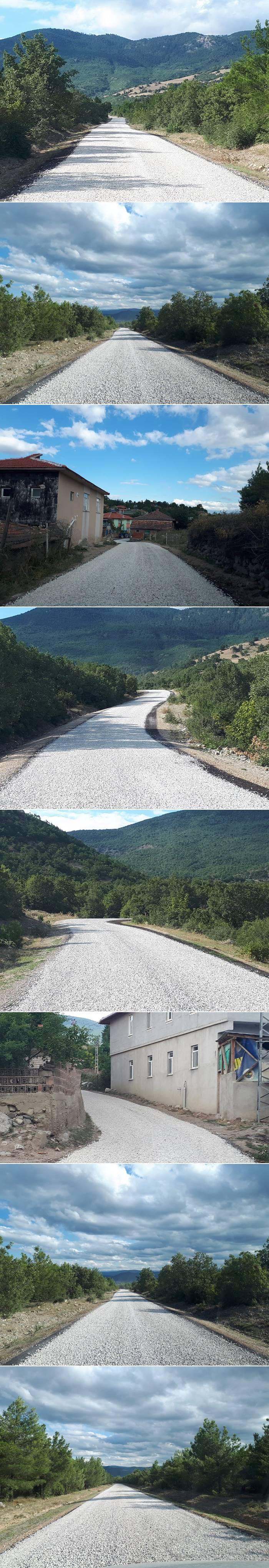 Eğlence köyü-Marufalınca köyü grup yolu 1.kat 7.O km asfalt çalışmalası tamamlandı.