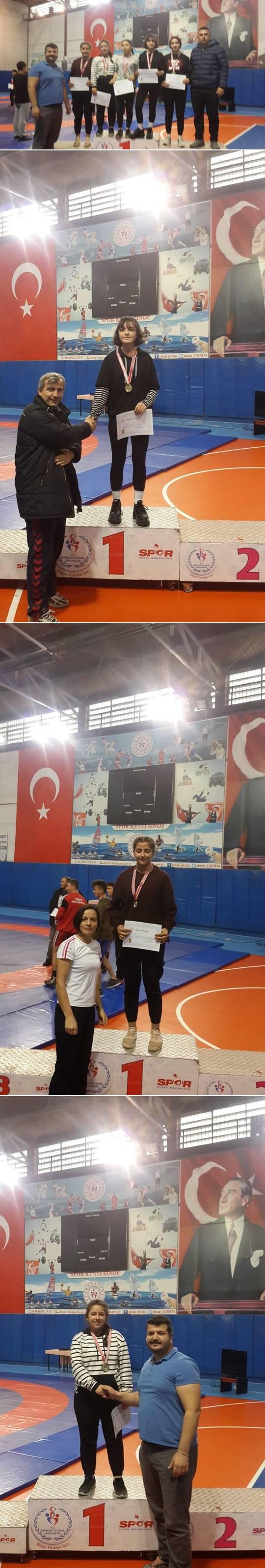 İlçemiz Mevlana Mesleki ve Teknik Anadolu Lisesi 2019-2020 Okul Sporları Müsabakalarında Serbest Güreşte, 50 Kg'da Nazlıcan Kayan, 53 Kg'da Tuğbanur Cobanoglu, 62 Kg'da Edanur Baltacı, 68 Kg'da Zeynep Şahinbaş, 75 Kg'da Büşra Tekin Sinop İl Birincisi Olarak Türkiye Şampiyonasına Katılmaya Hak Kazandılar.