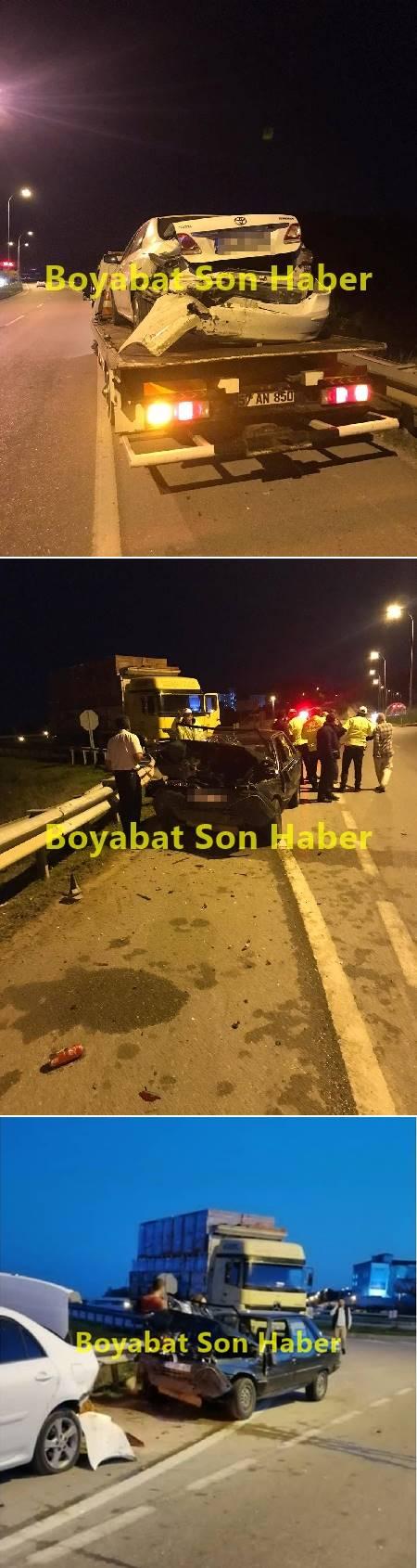Sinop trafik kazası