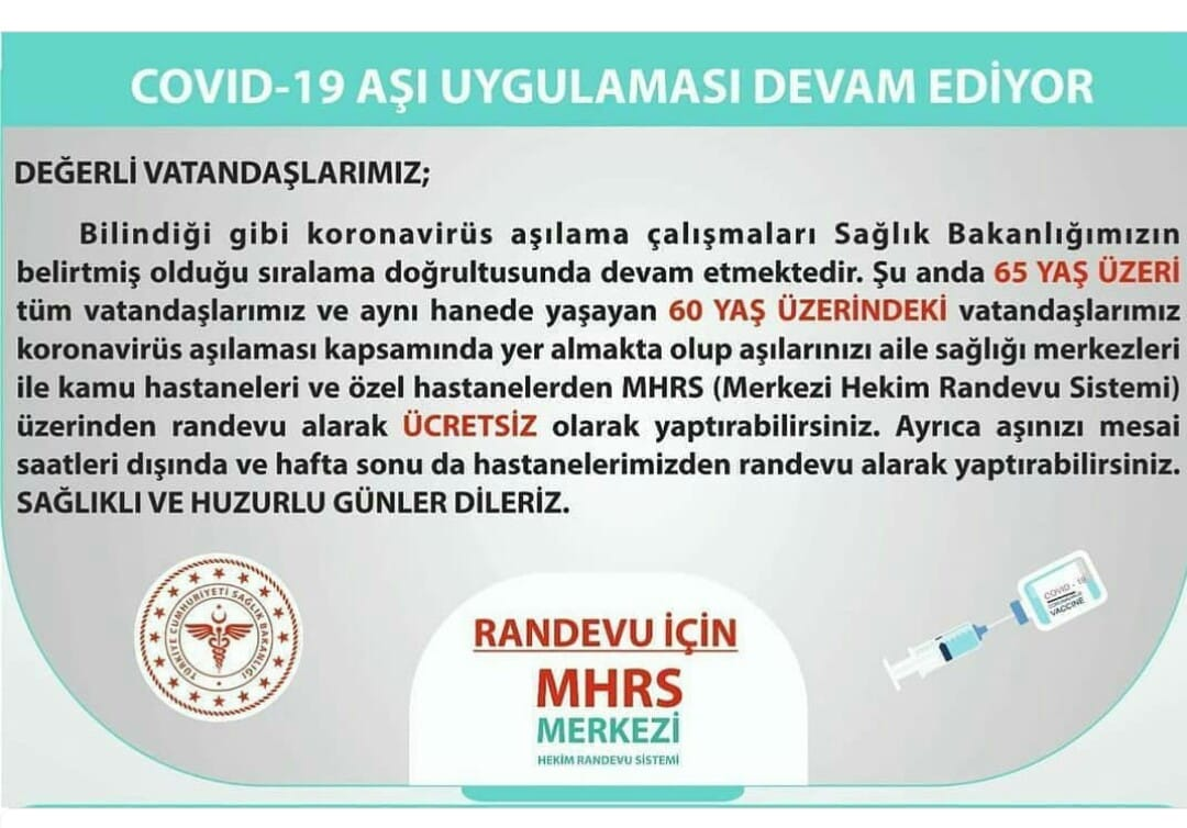 BOYABAT DEVLET HASTANESİNDEN DUYURU..