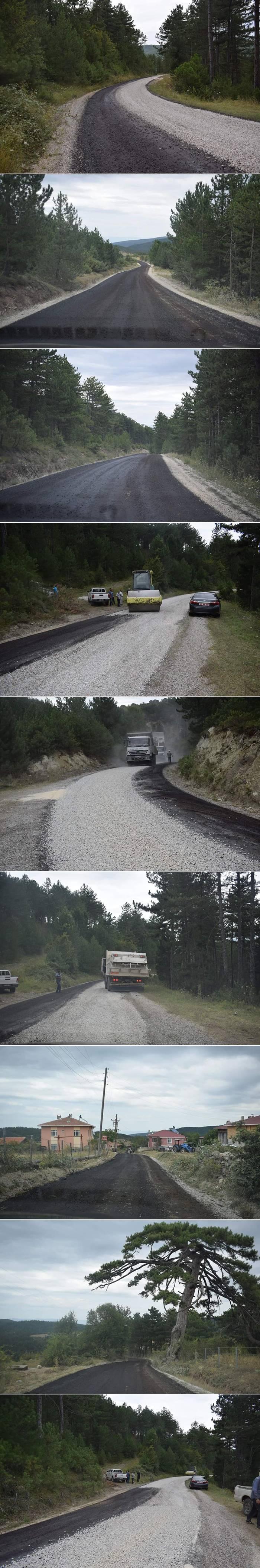 Killik-Terziahmetli-Taşhanlı köy grup yolu 4.8 km 1. kat asfalt tamamlanmıştır.