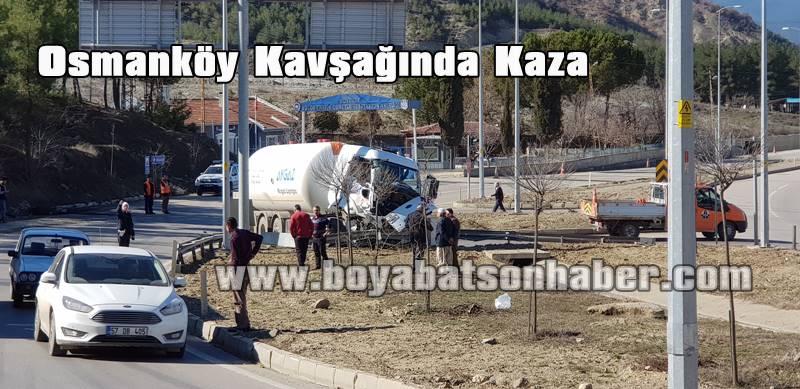 Son Dakika.Osmanköy Kavşağında Feci Kaza