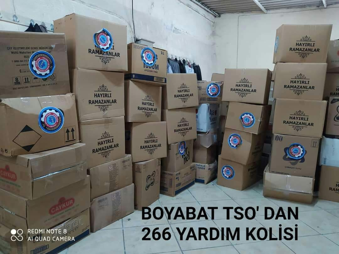BOYABAT TSO' DAN YARDIM KOLİSİ..