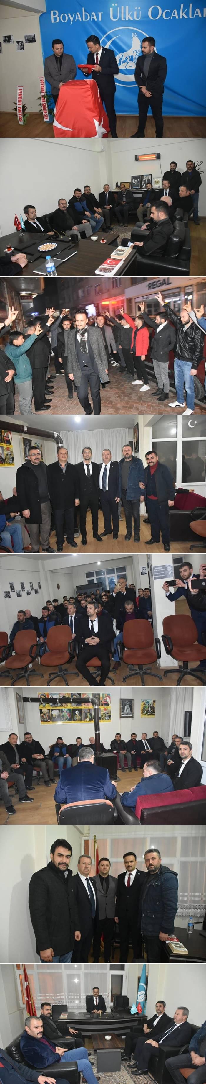 Sinop Ülkü Ocakları Başkanı Çağdaş Türkmen tarafından Boyabat Ülkü Ocakları Başkanlığı görevine Kerim Yener atandı.