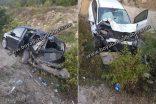 Sinop Yolunda Feci Kaza.. İki Araç Çarpıştı   (VİDEO)