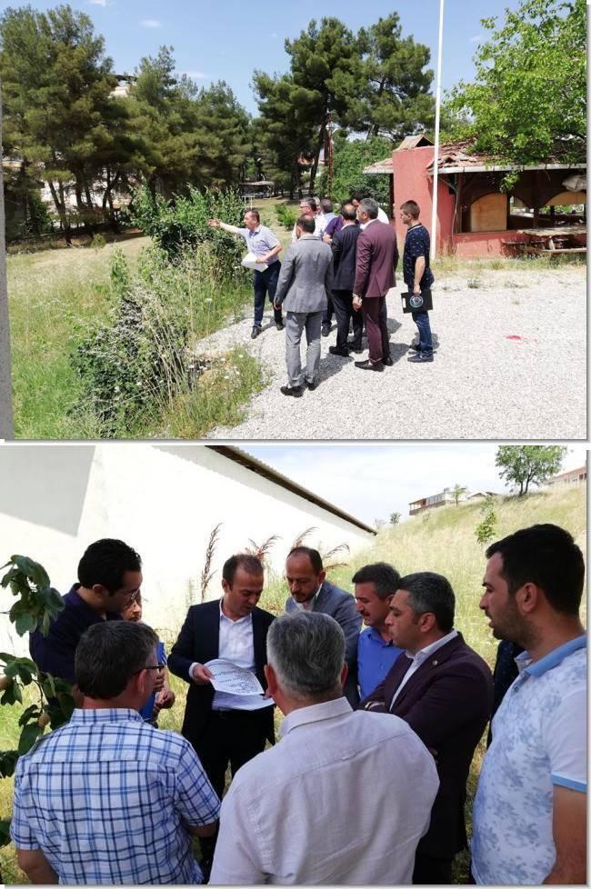 TOBB ve Milli Eğitim Bakanlığı arasında yapılan protokol kapsamında ilçemizde inşa edilecek yeni okul için yerinde incelemeler yapıldı.