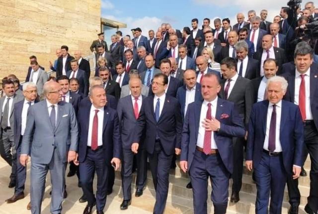 CHP'li Başkanlar Tam Kadro Anıtkabir'deydi
