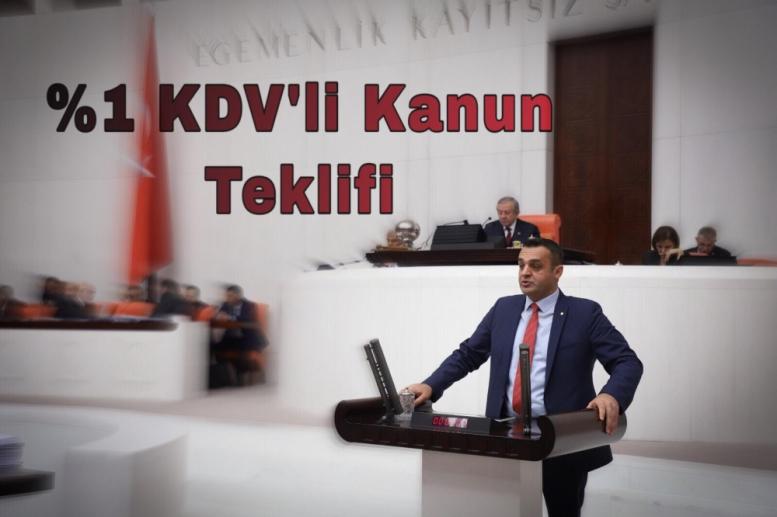 CHP'li Vekil Karadeniz'den %1 KDV'li Kanun Teklifi