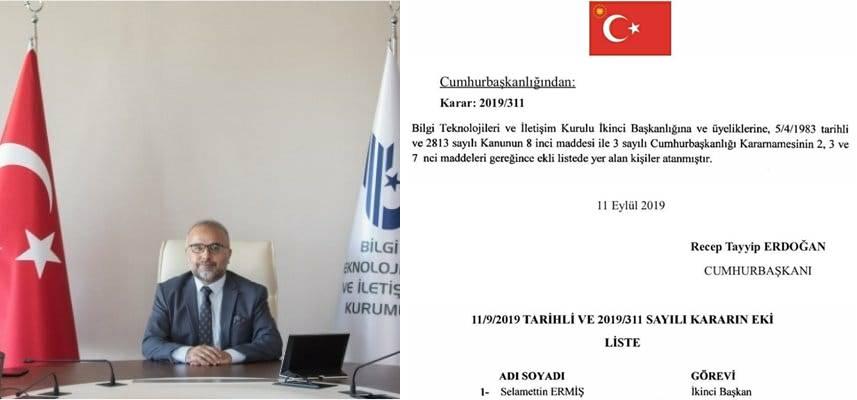 SİNOP'LU HEMŞEHRİMİZ 2. BAŞKANLIĞIA ATANMIŞTIR