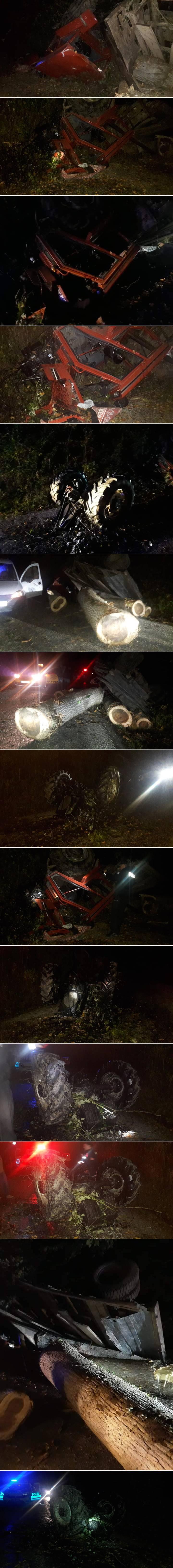 Erfelek ilçesinde ağaç yüklü traktörün devrilmesi sonucu 4 kişi yaralandı.
