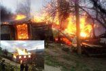 Erfelek'te Korkunç Yangın, Bir Tamamen Kül Oldu