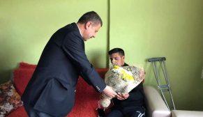 Başkan Çakıcı İDLİP Gazisini Ziyaret Etti