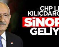 CHP LİDERİ KILIÇDAROĞLU SİNOP'A GELİYOR