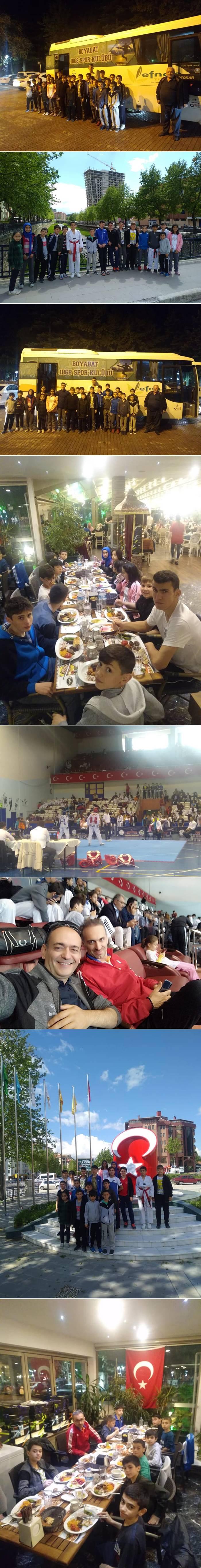 Türkiye Taekwondo Şampiyonası öncesinde yapılan ve 24 ilden 34 kulüp sporcularinin katıldığı Kastamonu'da düzenlenen 19 Mayıs İllerarası Gençlik Taekwondo Şampiyonası turnuvasına  Boyabat Taekwondo Kuzey Yıldız Kulübü olarak  Şampiyonaya katınıldı.
