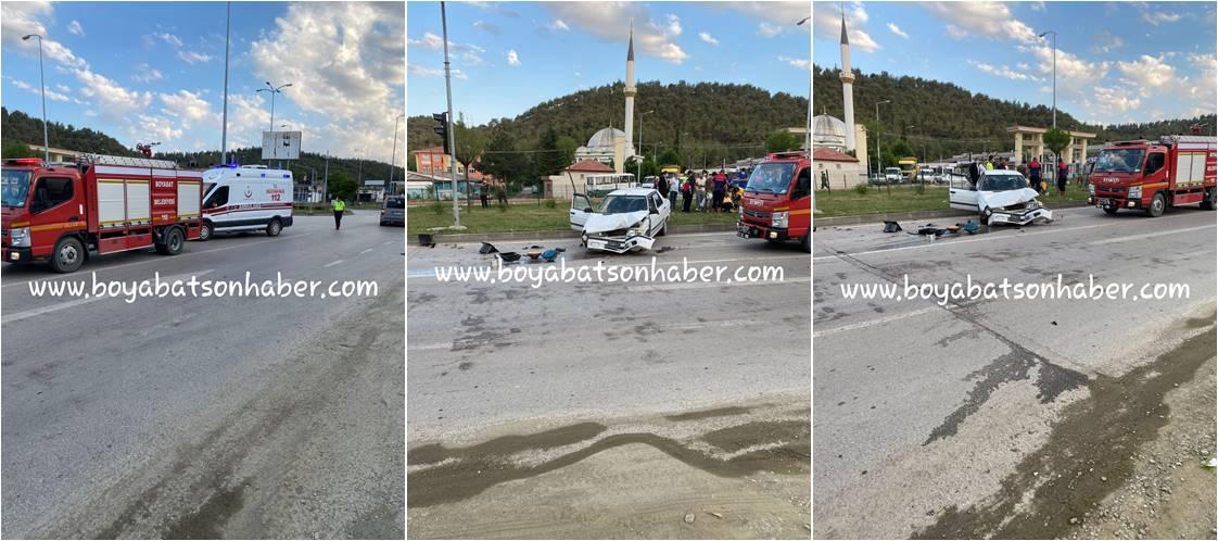 Sanayi Kavşağında Trafik Kazası