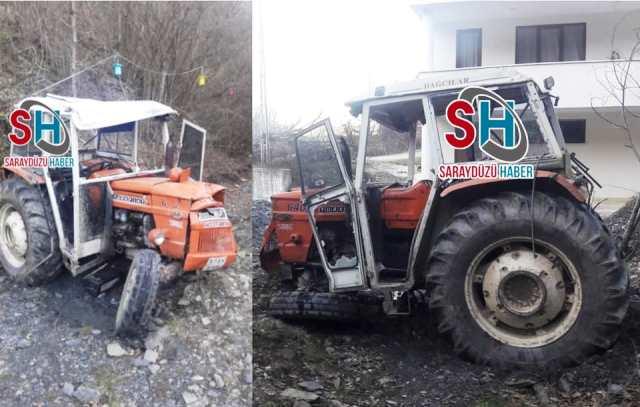 Köyde Traktör Devrildi, 1 Yaralı