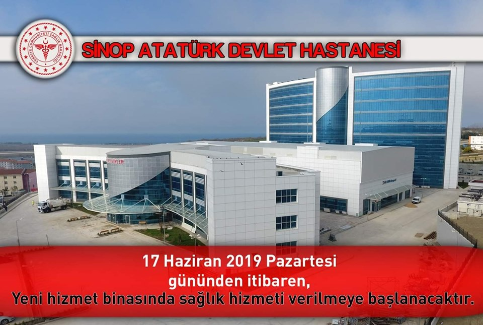 Sinop Atatürk Devlet Hastanesi Yeni Binasında