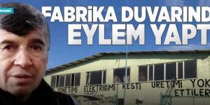 SİNOP'TA FABRİKA DUVARINDA İLGİNÇ EYLEM. (VİDEO)