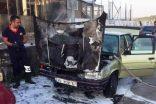 Seyir Halindeki Otomobil Alev Aldı, İmdadına İtfaiye Yetişti