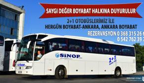 Sinop Birlik'ten Her gün Ankara seferi