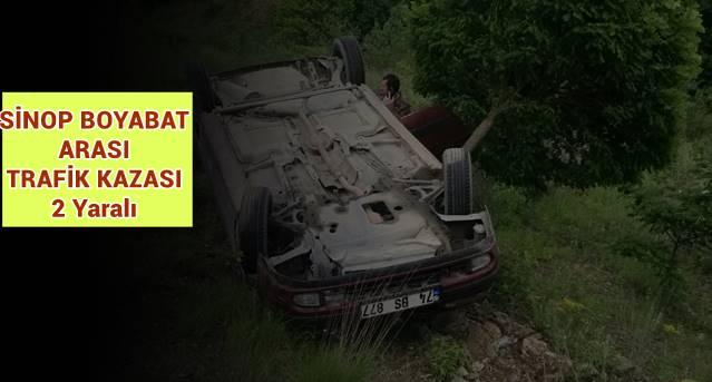 Sinop Boyabat Arası Trafik Kazası. 2 Yaralı