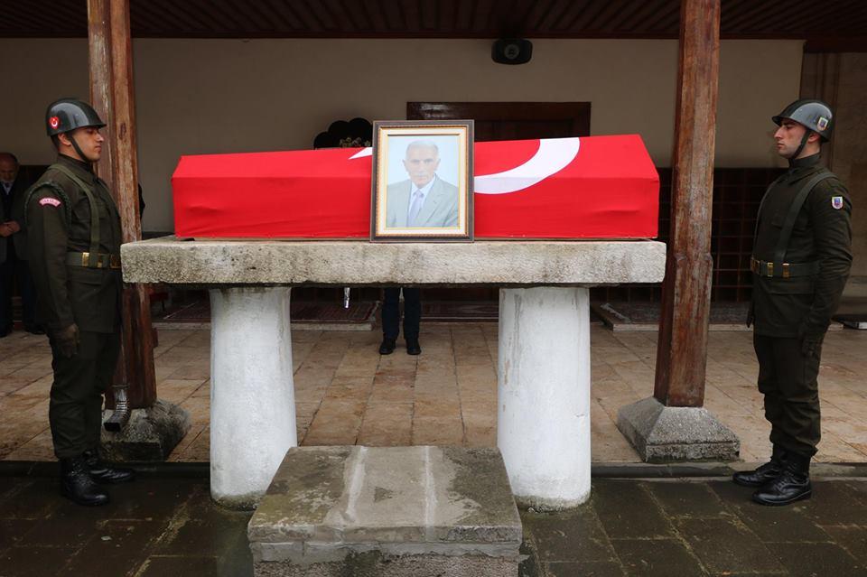 Merhum Emekli Alb Ali Çavdar'a Devlet Töreni