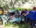 Sinop Erfelek Yolunda Feci Trafik Kazası, 4 Ağır Yaralı