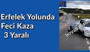 SİNOP ERFELEK YOLUNDA FECİ KAZA..3 YARALI
