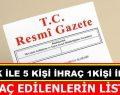 Sinop'ta 5 kişi İhraç Edildi, 1 Kişiye Görevi İade Edildi