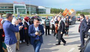 AK Parti Milletvekili Adaylarına Boyabat'ta Çoşkulu Karşılama